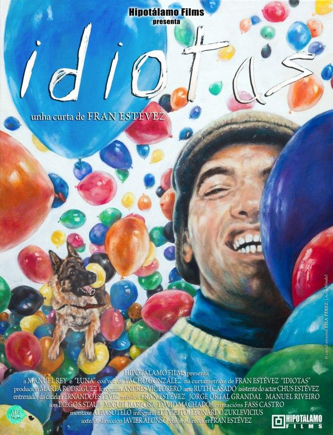 Cartel cortometraje Idiotas realizado por Eila Pérez Vázquez
