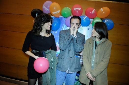 12.Eila Pérez, Fran Estévez y Fass Castro. Estreno corto %22Idiotas%22